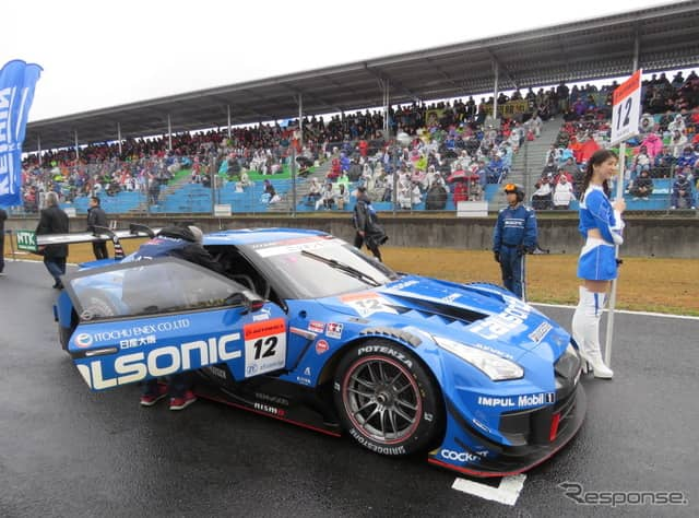 決勝3位となる#12 GT-R。《撮影 遠藤俊幸》