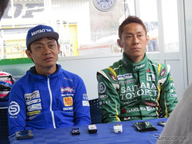 鈴鹿10Hに参戦する脇阪寿一(左)と脇阪薫一。《撮影 遠藤俊幸》