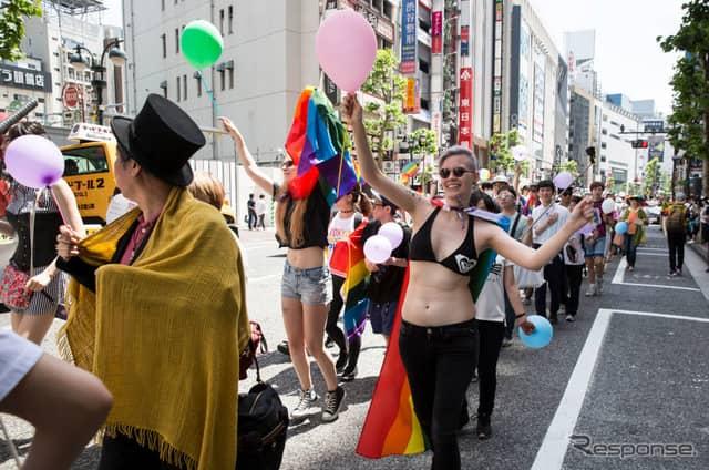 東京レインボープライド2018のパレード (c) Getty Images