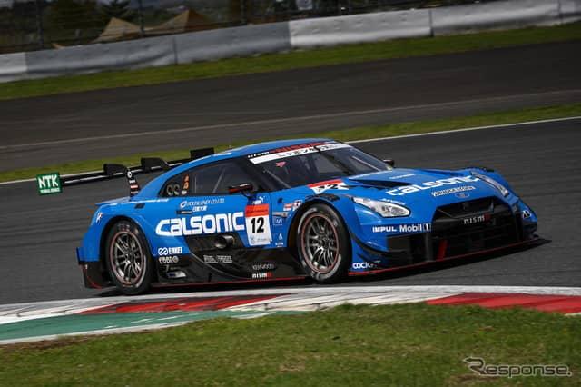 GT500クラス予選3位の#12 GT-R。《撮影 益田和久》