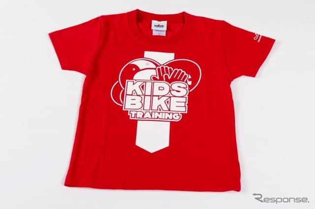 キッズバイクトレーニング 子どもTシャツ《写真 モビリティランド》