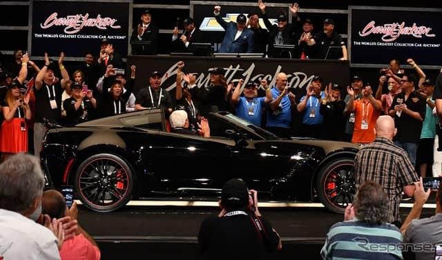 現行シボレー・コルベットの最終モデルがバレットジャクソンで270万ドルで落札《photo by GM》