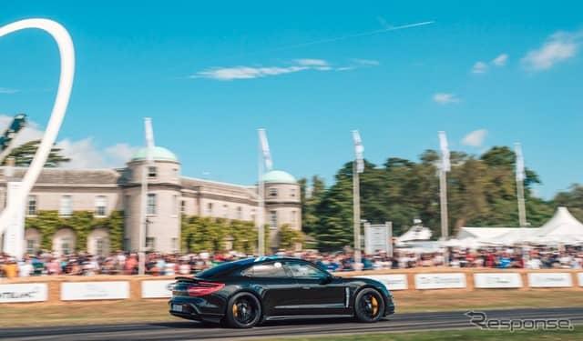 ポルシェ・タイカン の最新プロトタイプ(グッドウッド2019)《photo by Porsche》