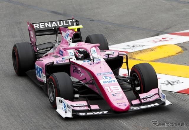 #19 ユベール選手は第4大会モナコのレース2でも優勝していた。《写真提供 FIA-F2》
