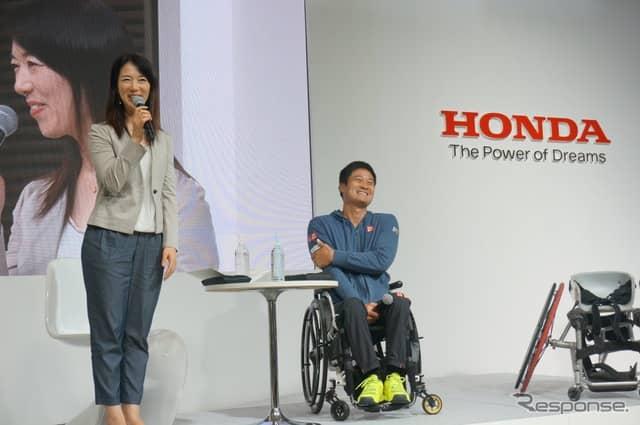 H.C.R. 2019 ホンダブース 国枝慎吾選手・まるも亜希子氏トークショー《撮影 滑川寛》