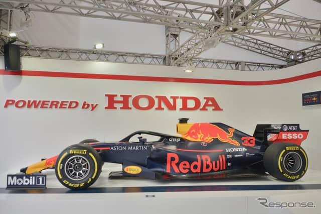 F1日本グランプリでホンダブースに展示中の車両《提供 AT&T》