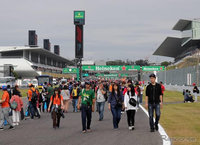 2019年F1日本GP、木曜実施イベントの模様。《写真提供 MOBILITYLAND》
