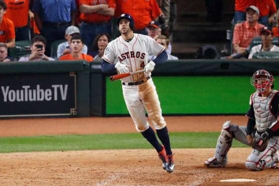 MLB】ア軍スプリンガーがWS記録の5試合連続本塁打 ド軍との2017年WS第4 ...