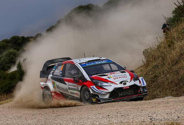 トヨタ・ヤリスWRC(今季WRCイタリア戦)《写真提供 TOYOTA》