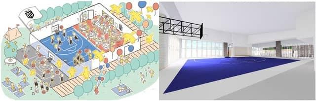 屋内・屋外バスケットボールコートを併設した日本初の飲食施設「SG-Park」がオープン