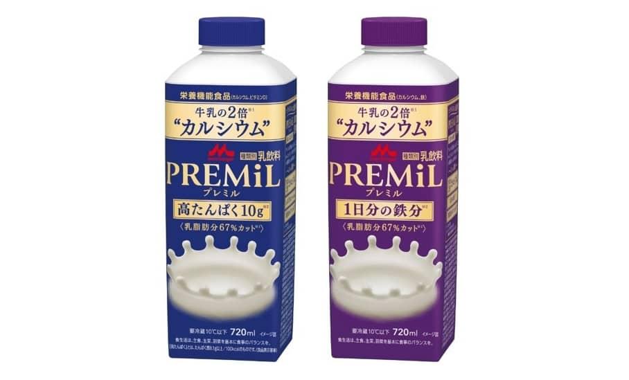森永乳業「PREMiL」シリーズがリニューアル。低カロリーで低脂質、高たんぱく質、カルシウムは約2倍に