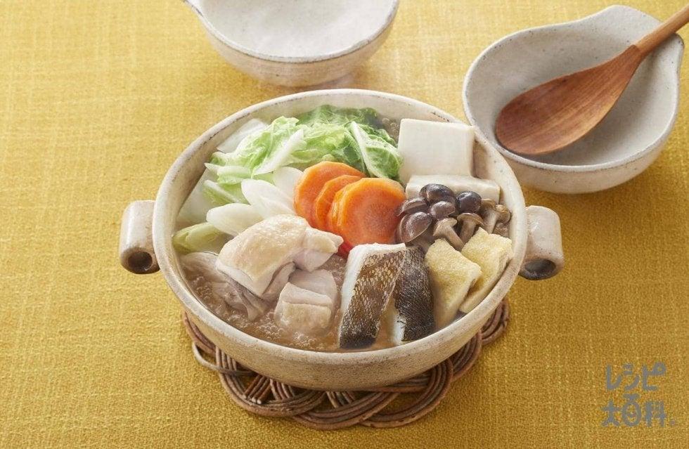 瀬戸、羽生も食べる「極みだし鍋」/味の素レシピ2