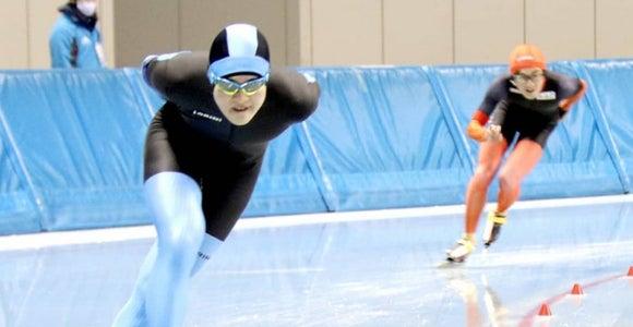 スピードスケート男子1万m 八戸西・橋本芳彦が優勝