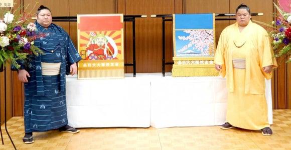 大栄翔と剣翔が日大を表敬訪問 田中理事長の激励に発奮