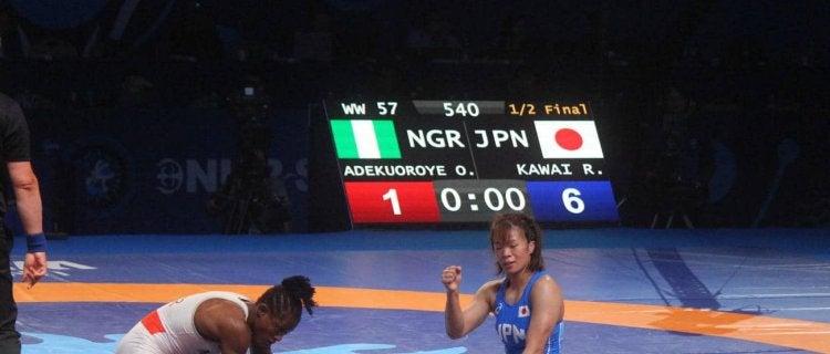 川井梨紗子が東京五輪代表内定 アフリカ女王攻略