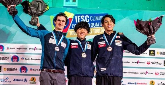 藤井快が1位、楢崎明智が3位/五輪予選大会