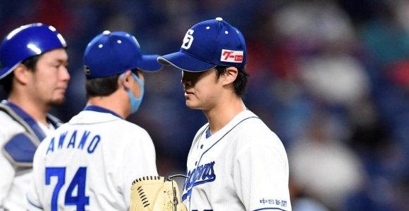 中日梅津「抑えて戻りたかった」苦手広島に3戦3敗