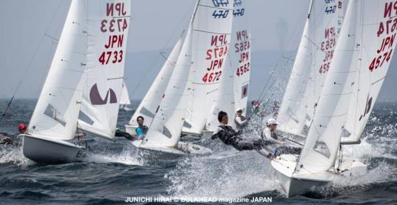 葉山沖、第3回関東470協会フリートレース初日成績