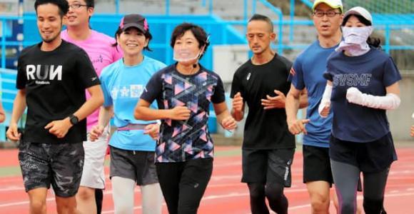 野口みずきさんがランニング教室 神戸マラソンにつなげ