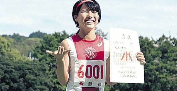 女子200メートルで浜松市立・内山響香が優勝