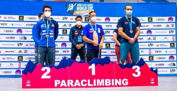 パラクライミングW杯で53歳・小林幸一郎が優勝