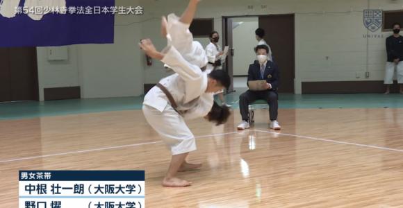 少林寺拳法全日本学生大会 男女茶帯ハイライト