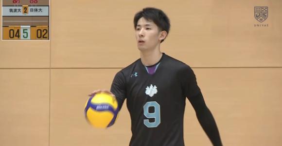 全日本バレーボール大学男女選手権大会 男 筑波vs日体大